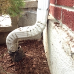 Completed downspout