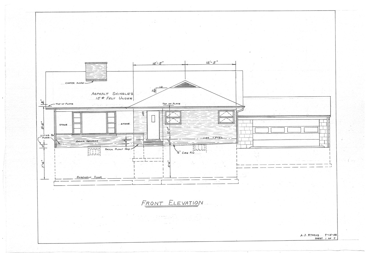 Our mid century split level house plans the house on for Blueprints for my house