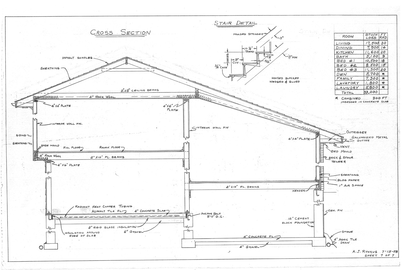 our mid century split level house plans | the house on rynkus hill